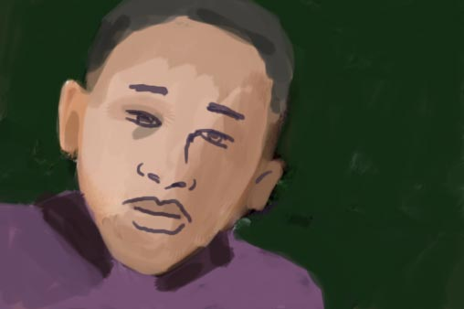 African American Child Suffering From Depression