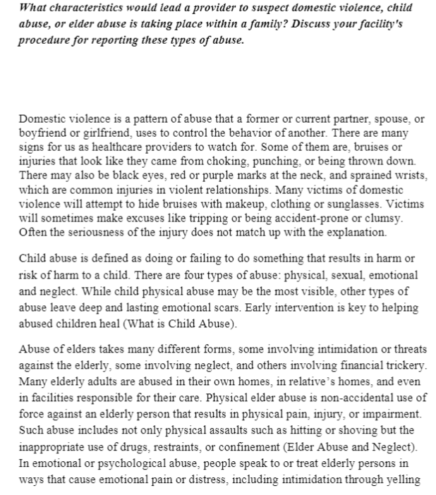 Discussion: Domestic Violence NRS 429