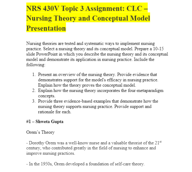 NRS 430 Collaborative Learning Assignment